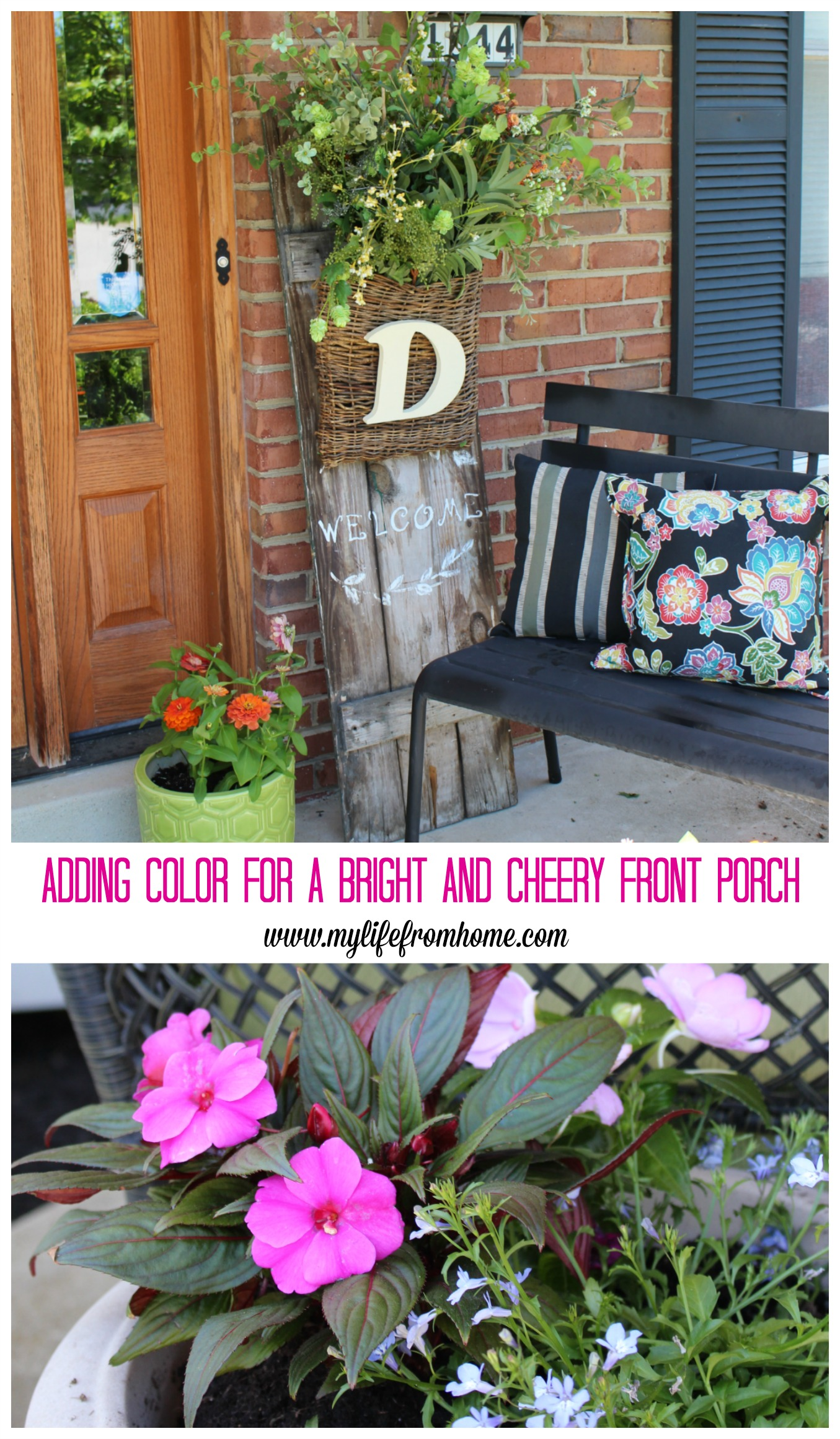 Spring Porch- Decorating for Spring- Outdoors- Flowers- Gardening- Monrovia- colorful plants- porch decor- outdoor spaces