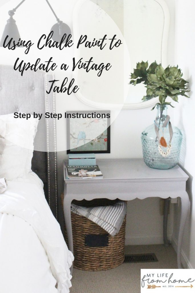 Using Chalk Paint to Update a Vintage Table- how to- chalk paint- painted furniture- instructions- paint- vintage- master bedroom- room design- home decor- Do it Yourself- DIY- room renovation