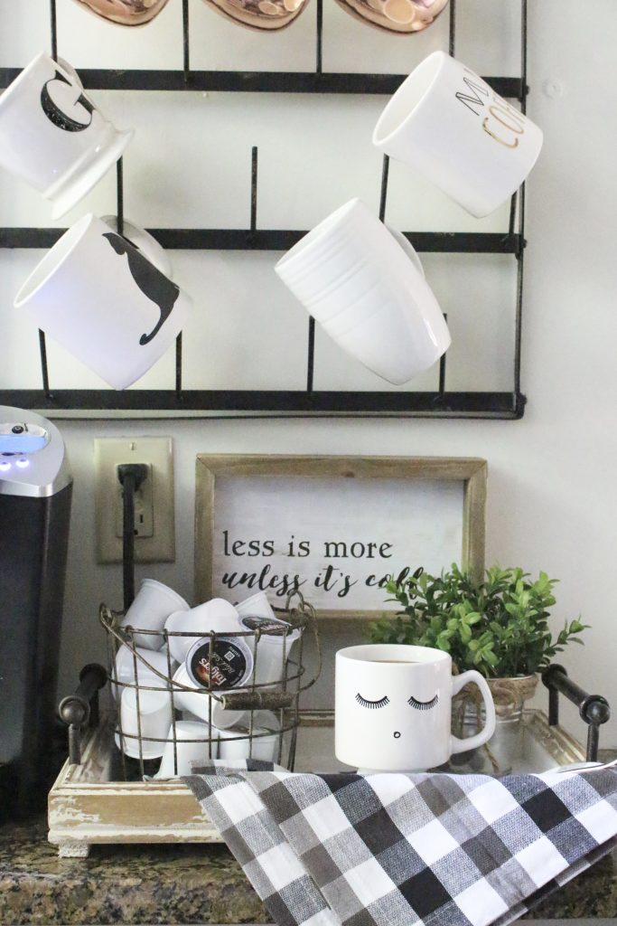How to Set Up a Kitchen Coffee Station- kitchen- coffee- station- coffee bar- DIY- DIY projects- Do it Yourself- room design- Home Decor- Decoration Ideas- Room Decor Ideas- mug rack