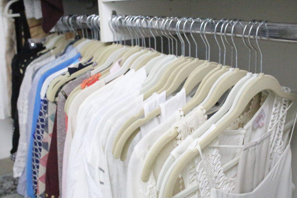 A full boutique closet reveal- master closet- closets- organizing closets- do it yourself- DIY- DIY projects- decoration ideas- room decor ideas- room design- home decor- closet decor- boutique- closet organization- shelf organization- walk in closet- clothing organization- wardrobe