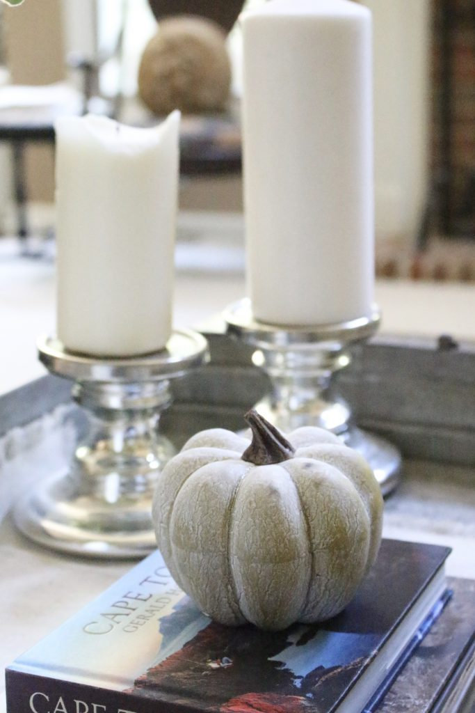 How to Style a Coffee Table- coffee table styling ideas- home decor- fall- seasonal coffee table- decor- home design- DIY- Do it Yourself Projects- tips on styling- coffee table- seasonal decor- pumpkins- faux pumpkins