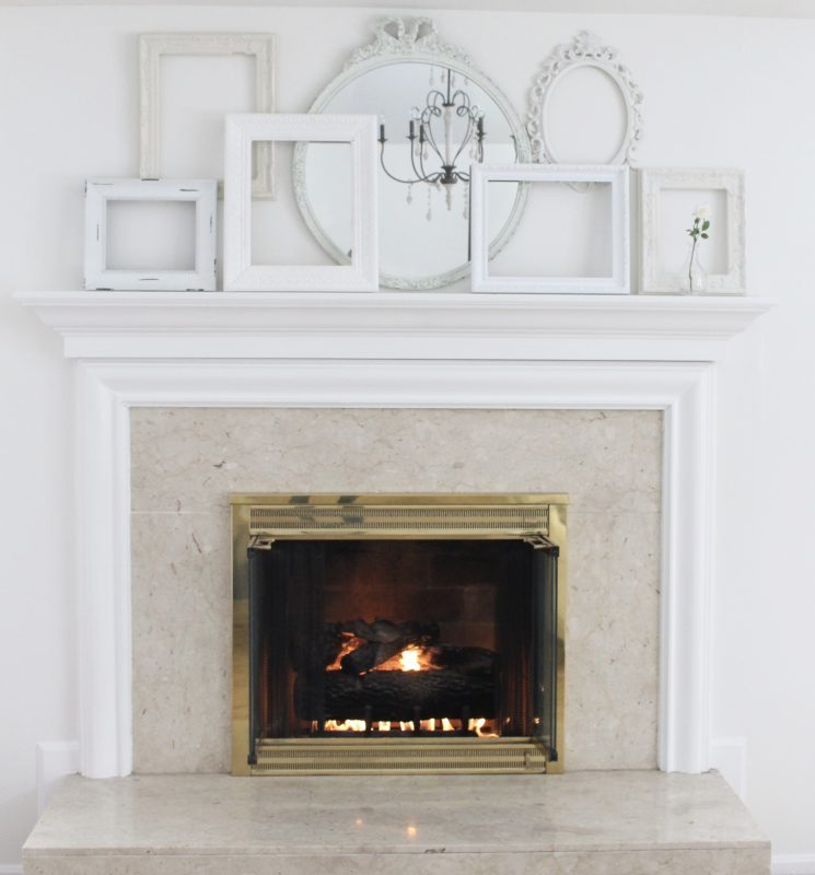 A Shabby Chic White Mantel