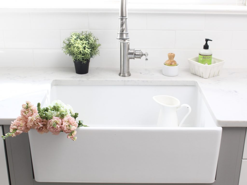 The Perfect Farmhouse Sink and Faucet for My Cottage Kitchen | My ...