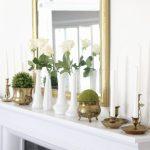 Elegant Summer Mantel in the Dining Room
