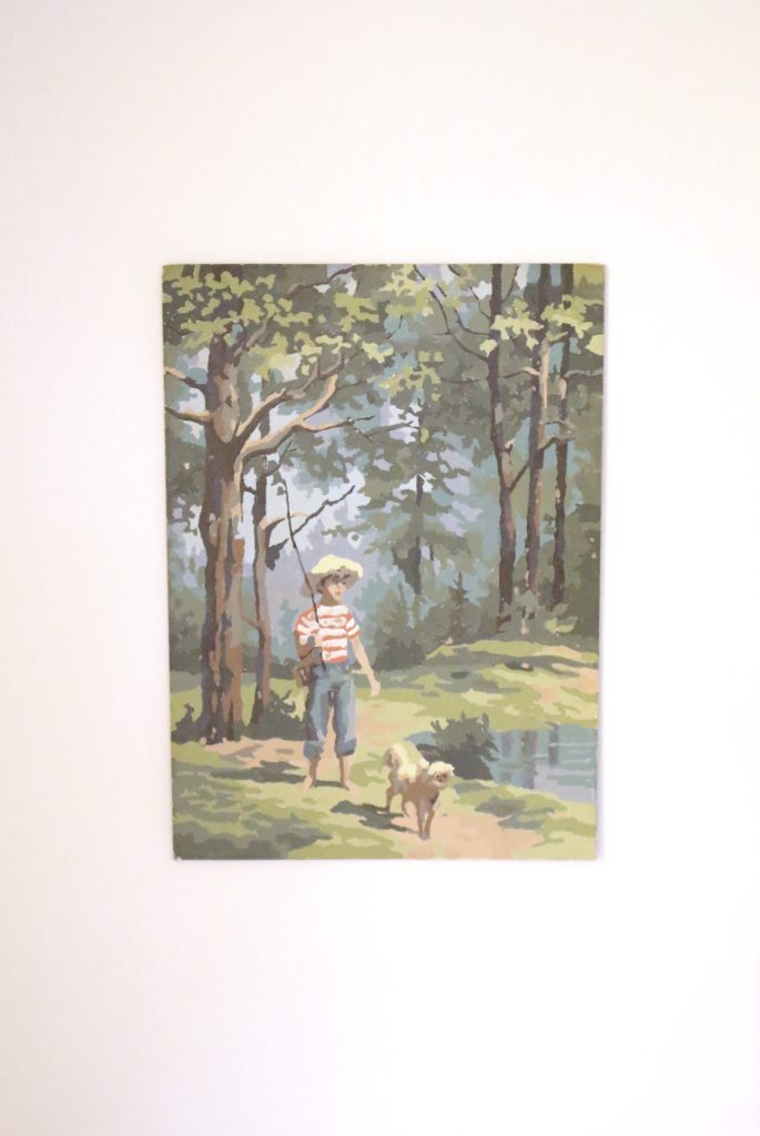 Paint By Number- art- home decor- vintage- collections- collecting art- decor- bathroom decor- bathroom- design- thrift store-collections- decorating walls- wall decor- powder room- animal art