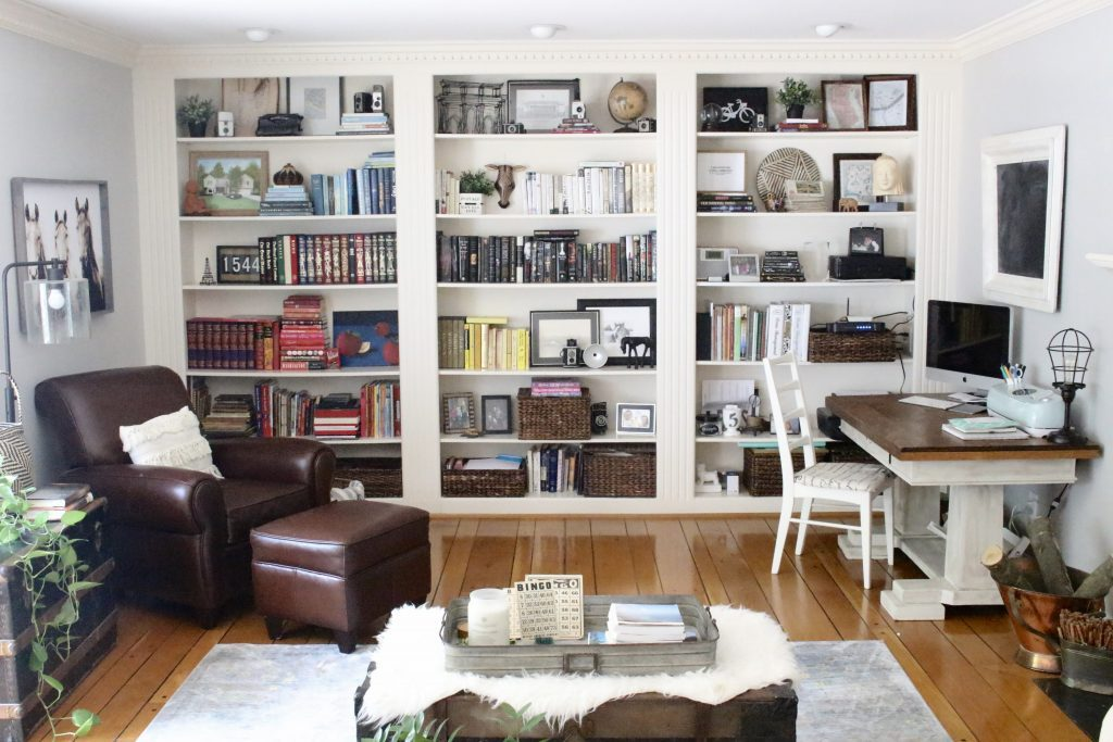 A Multifunctional  Living Room  Office  Room Design  Tour  A Wood Dresser