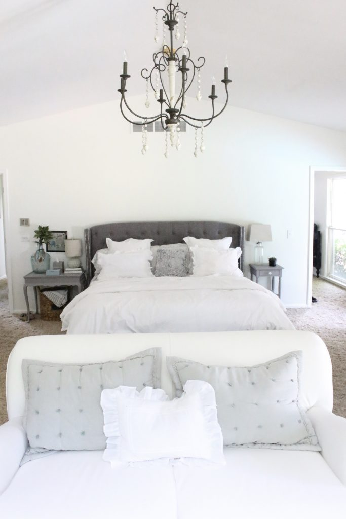 A light & Airy summer- bedroom- bedroom decor- bedroom ideas- bedroom decorating- master bedroom decor- home design- room design- painted furniture- shabby chic interior- design- white decorating ideas
