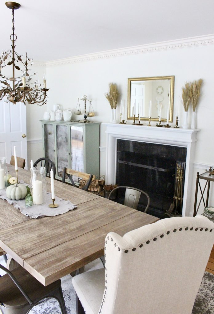 Simple Dining Room Color Ideas: First Look At Fall In Our Dining Room