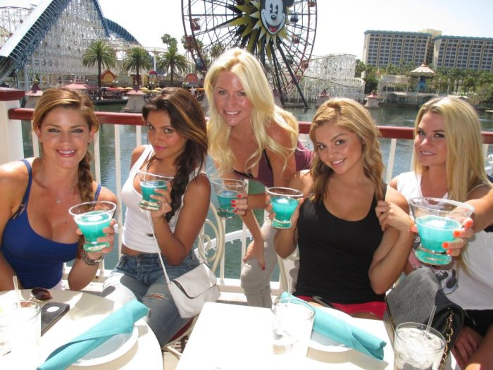 #1 Blue Drinks, Sun, Disneyland and these girls.