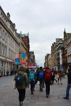 Walking through the streets of Glasgow