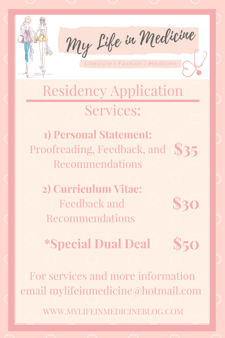 Residency Application Help