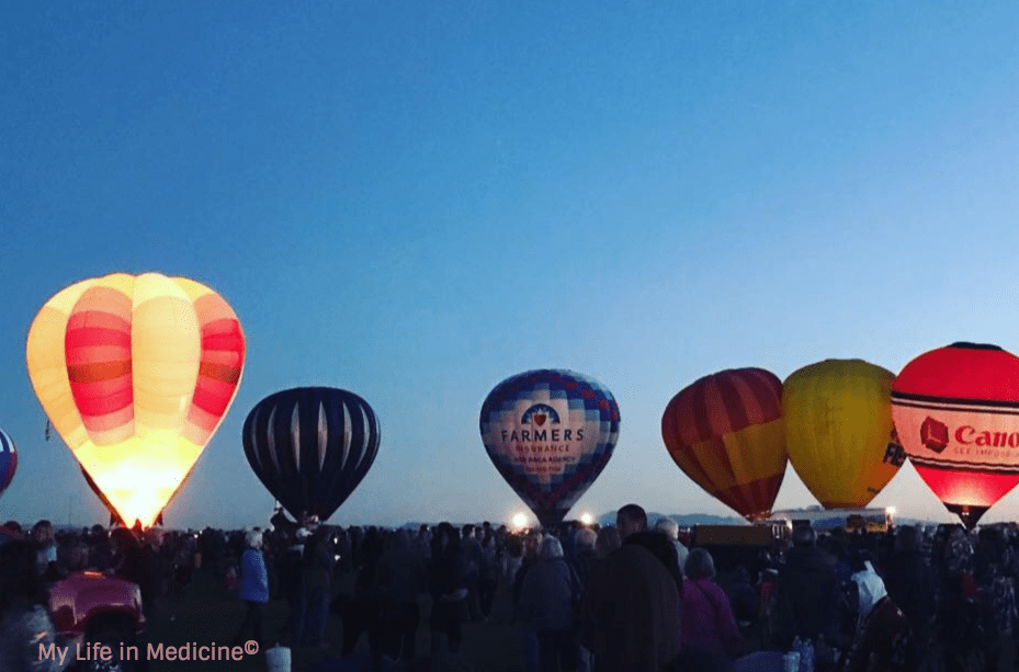 Albuquerque Balloon Fiesta Morning Glow