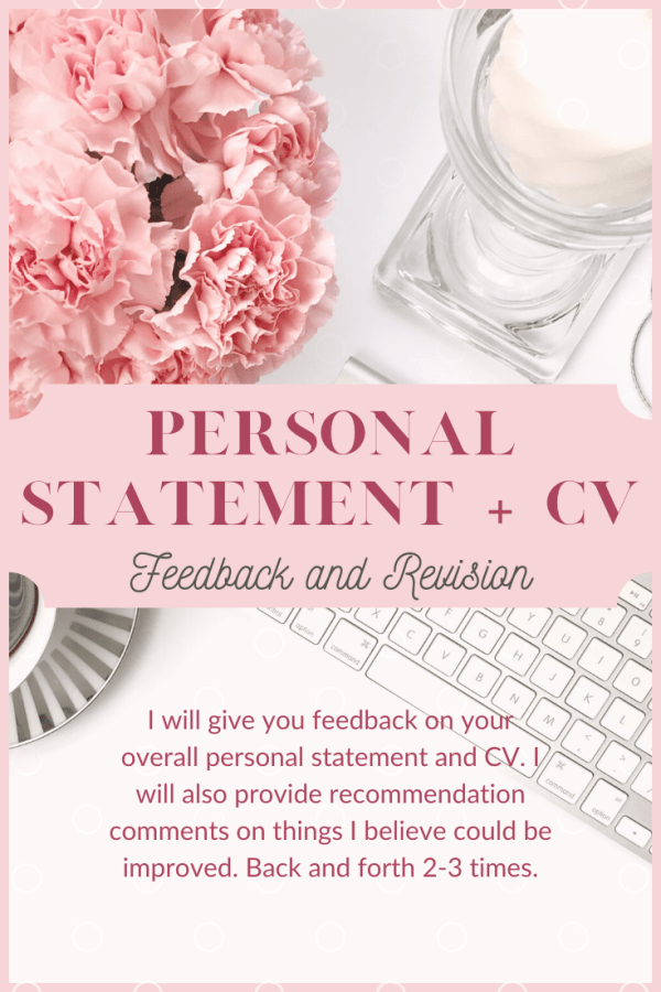 Personal Statement and CV revision bundle