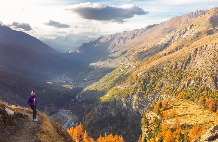 Lago di loie nel parco del gran paradiso-foliage-autunno