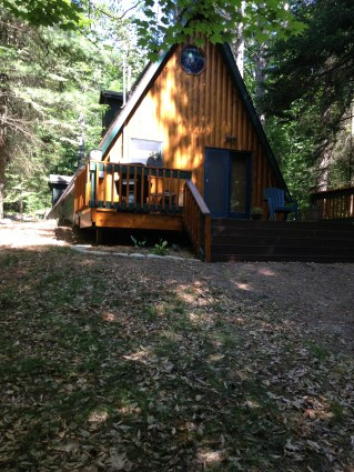 The back of the cabin we stayed in