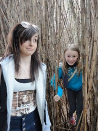 both girls in the bamboo