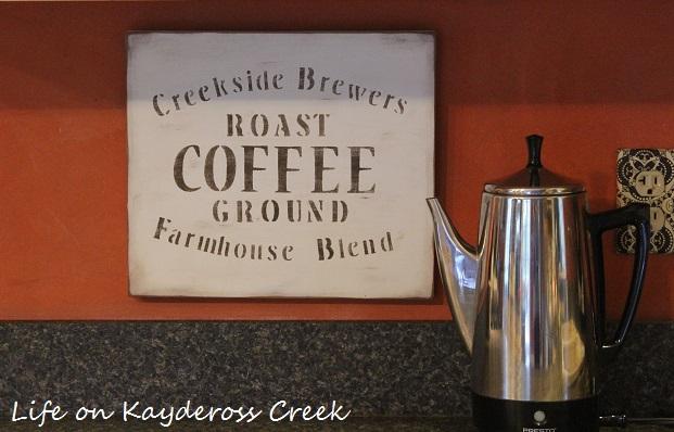 DIY Farmhouse Coffee Sign Life On Kaydeross Creek