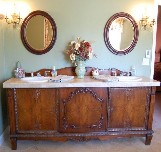 25 Unique Bathroom Vanities Made From Furniture Life On Kaydeross Creek