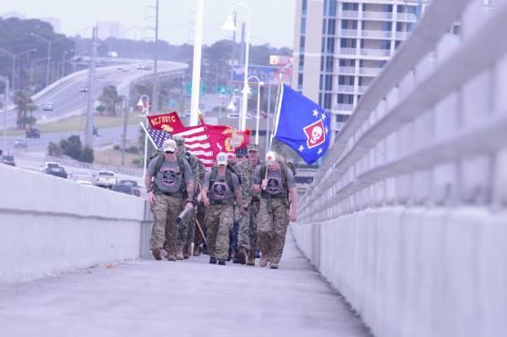 Heading over the Hathaway Bridge