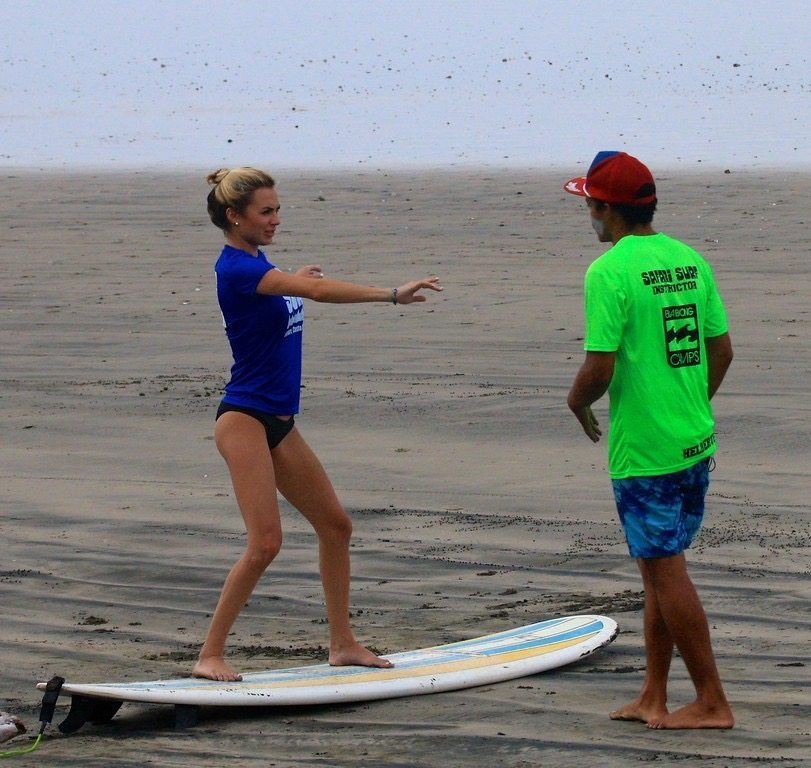 The surf instructors are very patient when teaching you how to surf