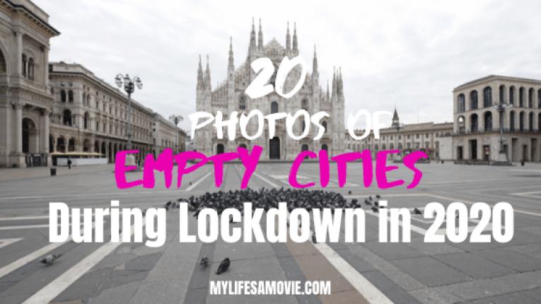 20 fotos de cidades vazias durante o confinamento em 2020