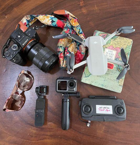 Equipamento de câmera de Alyssa