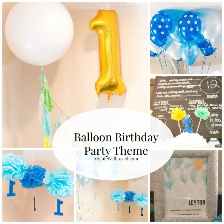balloon first birthday party