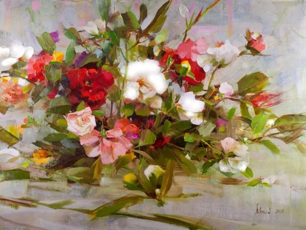 Richard Schmid Oil Paintings Flowers