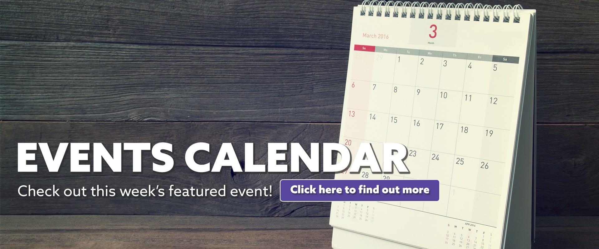 Events Calendar Featured Event Lift
