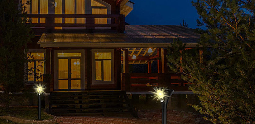 A Welcoming Home With Outdoor Solar Lighting