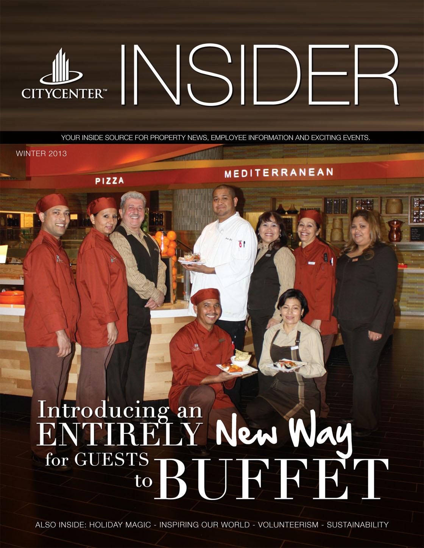 2013 Winter Issue CityCenter's INSIDER MAGAZINE