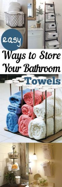Easy Ways to Store Your Bathroom Towels - My List of Lists