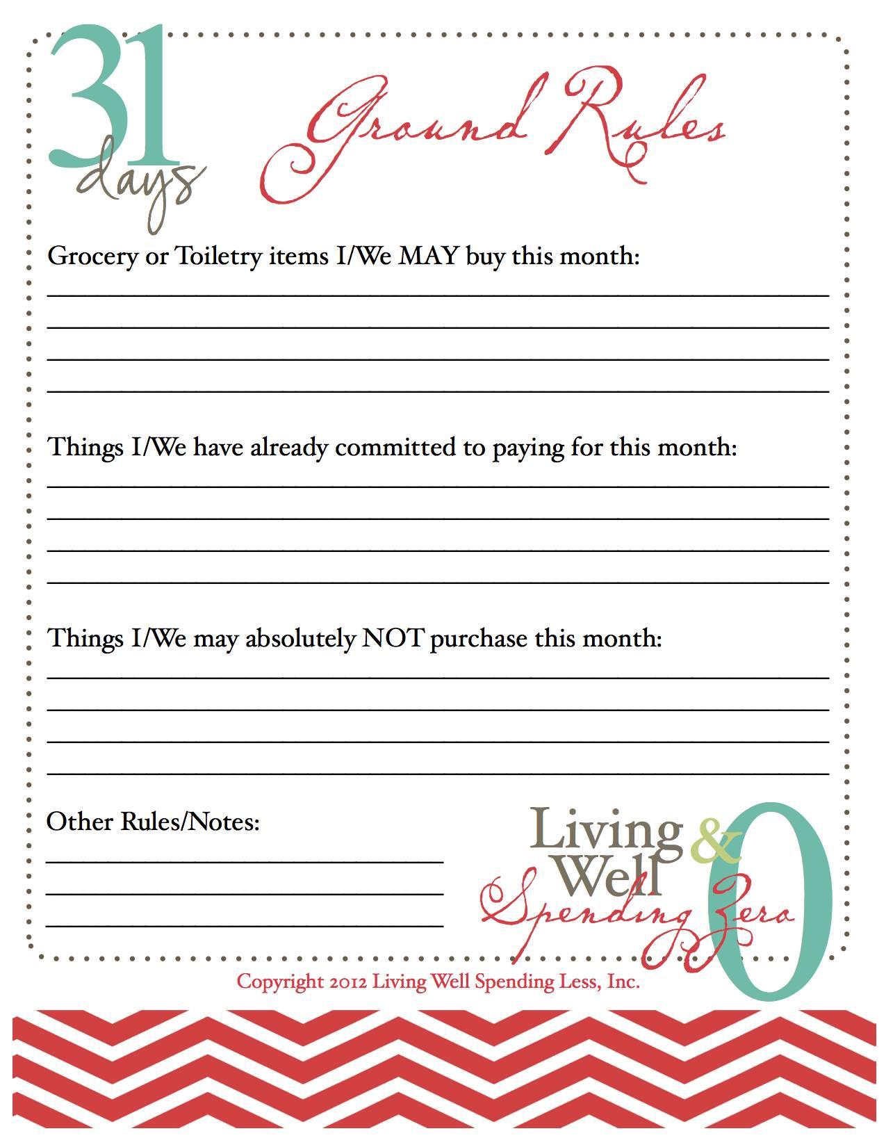 October Challenge Spending Freeze Living Better With