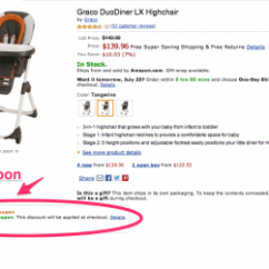 Graco High Chair Coupon Leather Lounge And Ottoman Coupons On Amazon Mylitter One Deal At A Time The
