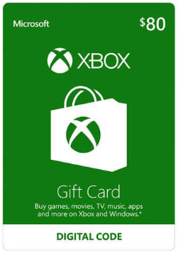 Xbox Giftcard Deal  80 card for only 70  MyLitter