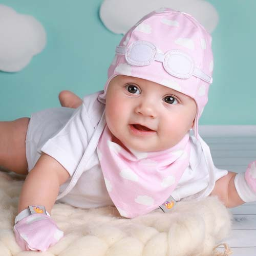 girls newborn hat pink