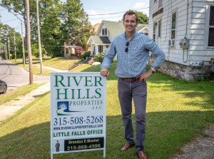 Photo by Dave Warner - Brandon Mosher with River Hills Properties.