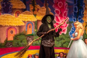 Maria Salamone as the Wicked Witch of the West in the Wizard of Oz.