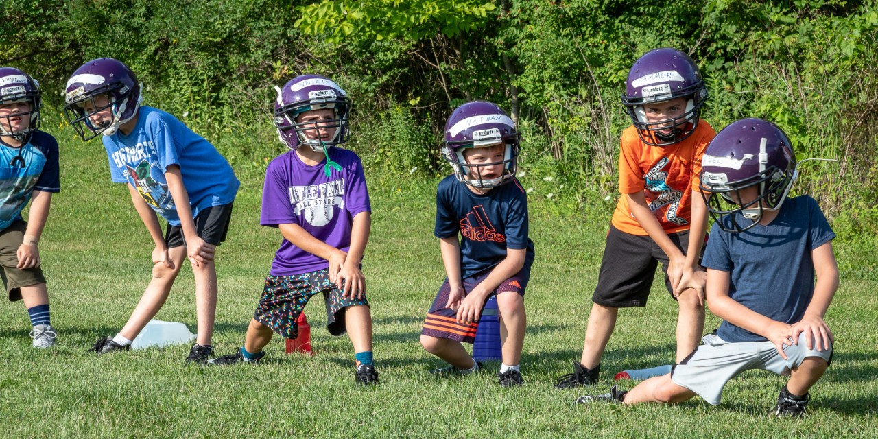 Flag, Mighty and Pee Wee Teams Start Practice