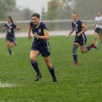 Girls varsity soccer team shuts out Herkimer in rain-shorted game