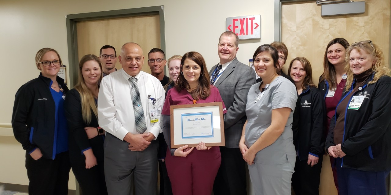 Raffle recognized as Little Falls Hospital Employee of the Quarter