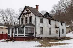 Photo by Dave Warner - A structure fire on Sunday, February 10, 2019 destroyed the home at 433 Flint Ave Ext.