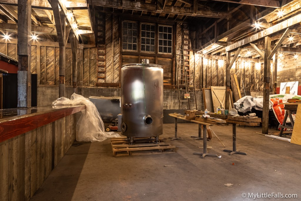 Photo by Dave Warner - The seasonal section of the Ironrock Brewing Company is starting to take shape. The brewing equipment will be moved into the brewing room when it is ready.