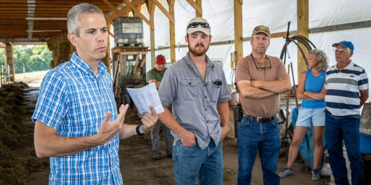 Congressman Brindisi visits Casler Farm in Little Falls