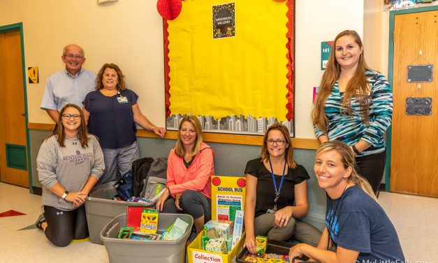 Little Falls Hospital employees donate school supplies