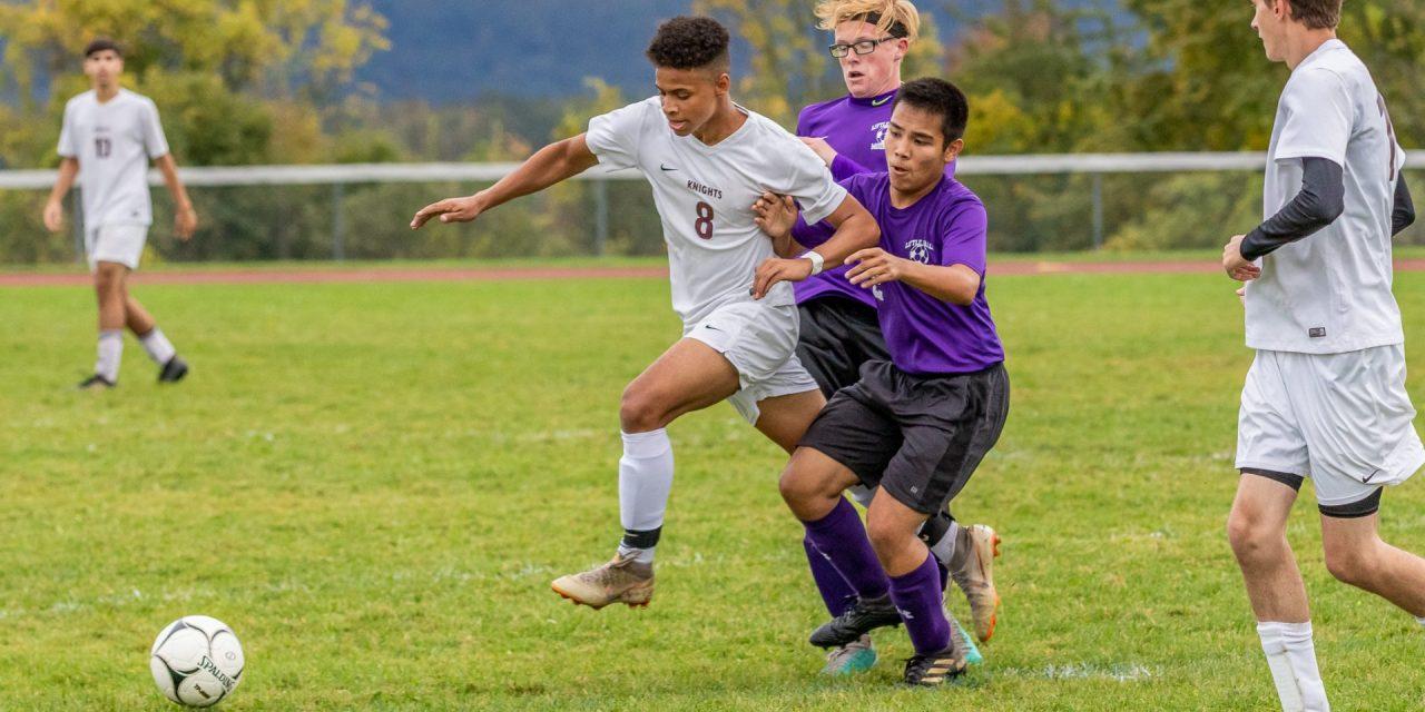 Boys Varsity Soccer team plays hard, but loses 6-2
