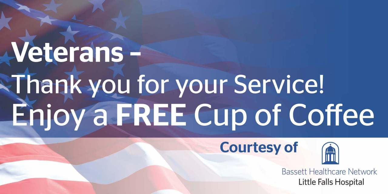 Little Falls Hospital Offers Complimentary Coffee to Veterans for the Month of November