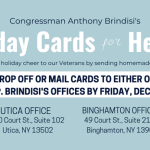 Brindisi Launches Holiday Cards for Heroes Program