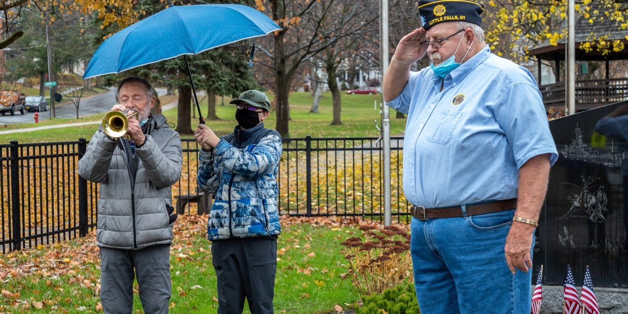 Subdued Veterans Day Ceremony held in Eastern Park