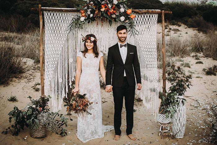 boda bohemia en la playa